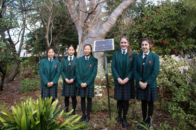 Girls_solar_panel